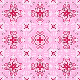 Padrão de vetor decorativo abstrato sem costura rosa bonito para a tela. fundo da web