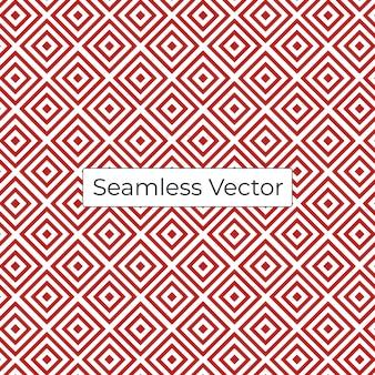 Padrão de vetor geométrico sem costura vermelha