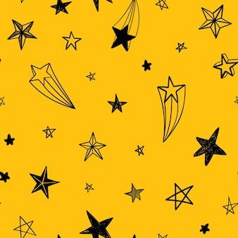 Padrão de vetor sem costura com estrelas