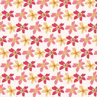 Padrão de vetor sem costura com plantas coloridas isoladas padrão de flores para papel de parede