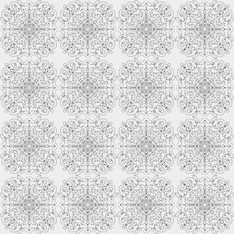 Padrão de vetor sem costura de linhas e formas simples abstratas