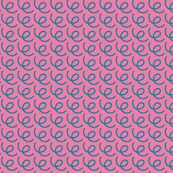 Padrão de vetor sem costura de linhas onduladas estilo memphis padrão de rabisco abstrato