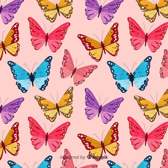 Padrão de voar de enxame de borboleta