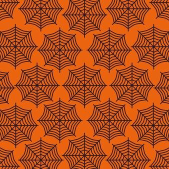 Padrão de web de aranha de halloween