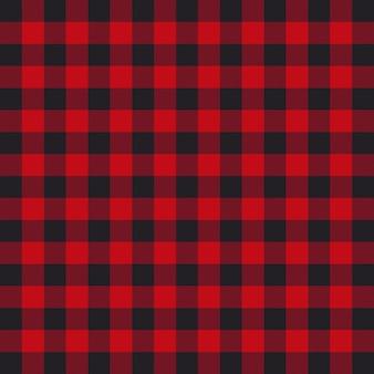 Padrão de xadrez de lenhador ou lenhador preto e vermelho