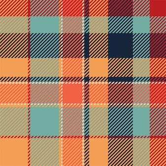 Padrão de xadrez sem costura tartan escócia. tecido de fundo retrô. textura geométrica quadrada de cor vintage cheque.