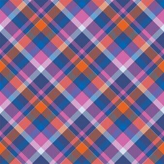 Padrão de xadrez sem costura tartan. textura geométrica quadrada de cor vintage cheque.