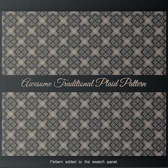 Padrão de xadrez tradicional impressionante. fundo com padrão uniforme em estilo islâmico,
