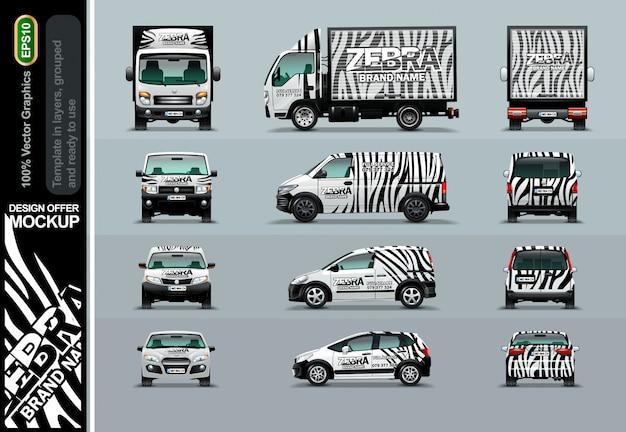 Padrão de zebra. ofertas de layout para o seu negócio.