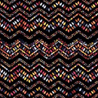 Padrão de ziguezague geométrico ikat. tema étnico tribal