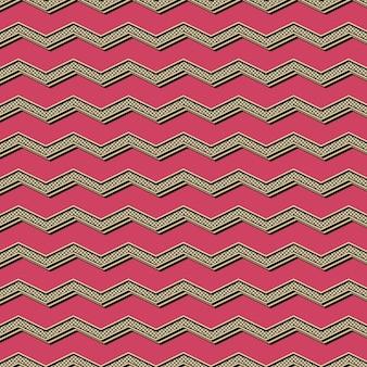 Padrão de ziguezague retrô, fundo geométrico abstrato nos anos 80, estilo dos anos 90. ilustração geométrica simples