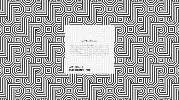 Padrão decorativo abstrato de linhas quadradas octogonais