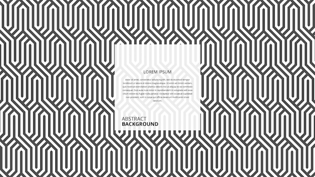 Padrão decorativo abstrato wickers hexagonais