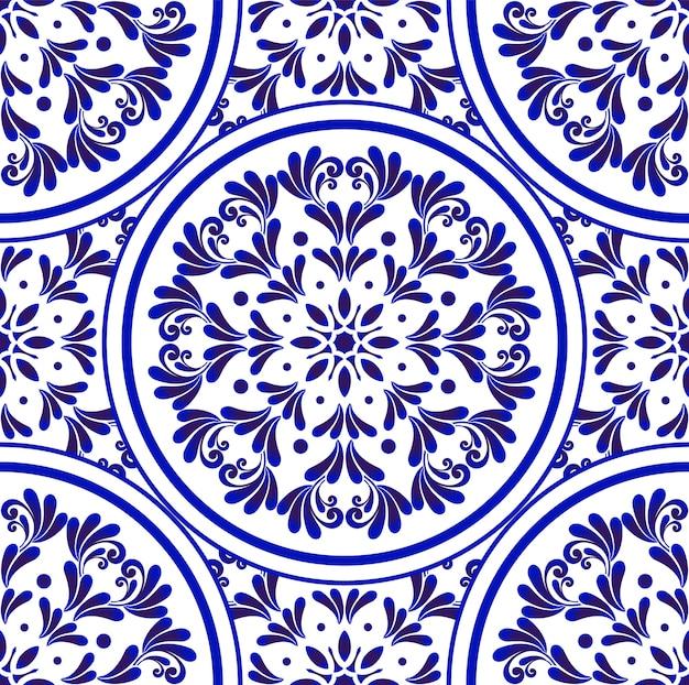 Padrão decorativo azul