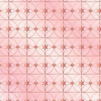 Padrão decorativo de arte em ouro rosa
