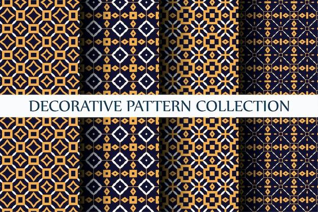 Padrão decorativo de luxo com estilo abstrato