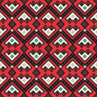 Padrão decotarive tribal geométrico na cor vermelha, ilustração vetorial