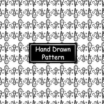 Padrão desenhado à mão em preto e branco