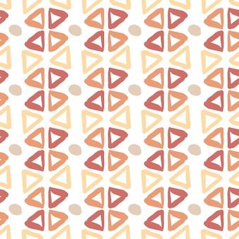 Padrão desenhado mão étnica com elementos de tinta de triângulo. textura sem costura