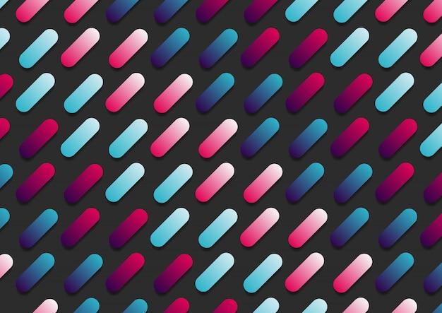 Padrão diagonal de linha arredondada abstrata