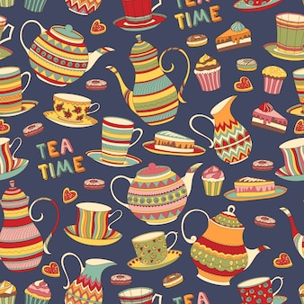 Padrão do tempo do chá