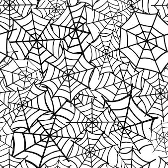 Padrão do webdesign de aranha para o dia das bruxas