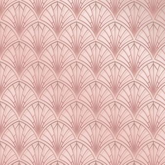 Padrão elegante rosa art déco