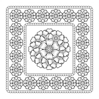 Padrão em forma de mandala com flor