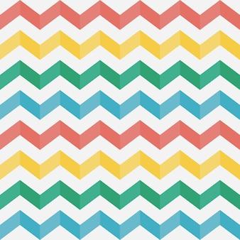 Padrão em ziguezague sem costura chevron listras horizontais multicoloridas com sombra
