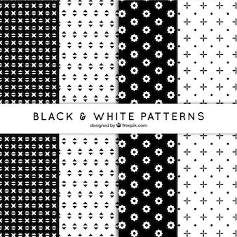 Padrão estabelecido de formas abstratas em preto e branco