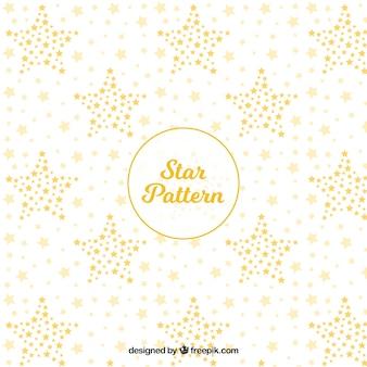 Padrão estelar branco e dourado