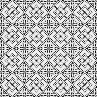 Padrão étnico com cor de estilo preto e branco