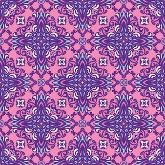 Padrão étnico de azulejos para tecido. abstrato geométrico mosaico vintage padrão sem emenda ornamental.