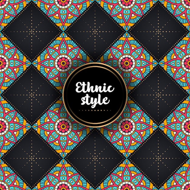 Padrão étnico ornamental de luxo