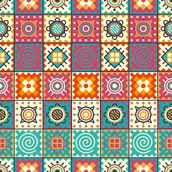 Padrão étnico sem costura em estilo nativo, design popular, padrão tribal, decoração étnica