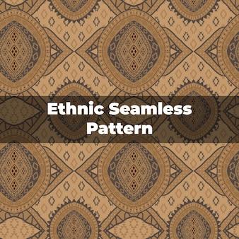 Padrão étnico sem costura em marrom
