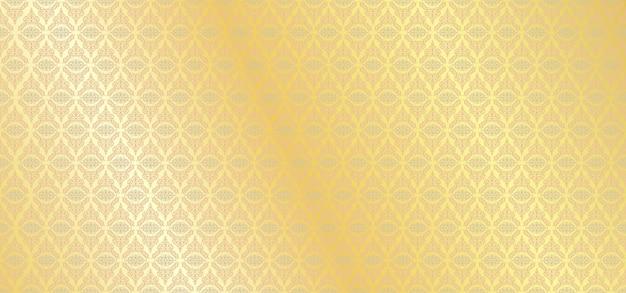 Padrão europeu dourado floral fundo ornamental