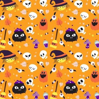 Padrão feliz dia das bruxas