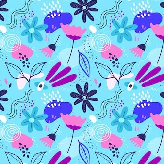 Padrão floral abstrato de design plano orgânico Vetor grátis