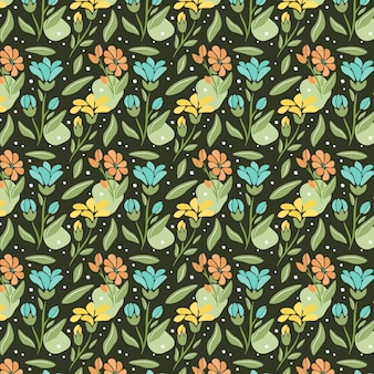 Padrão floral abstrato orgânico