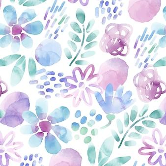 Padrão floral abstrato pintado à mão