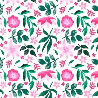 Padrão floral abstrato pintado
