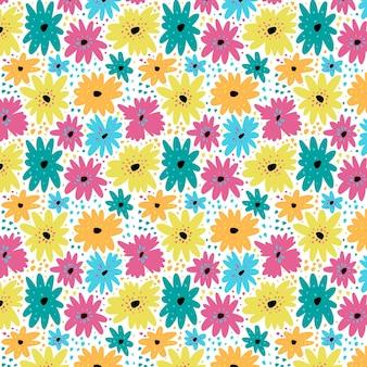 Padrão floral abstrato plano orgânico