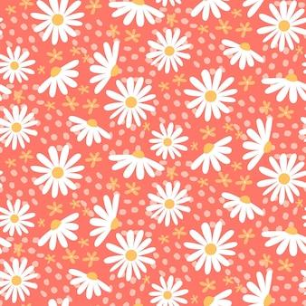 Padrão floral abstrato plano orgânico Vetor Premium