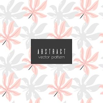 Padrão floral abstrato sem costura
