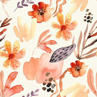 Padrão floral aquarela abstrato