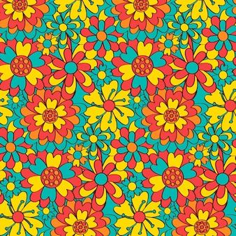 Padrão floral colorido e elegante