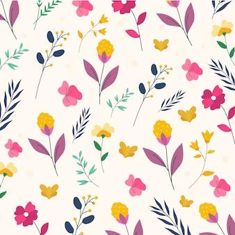 Padrão floral colorido