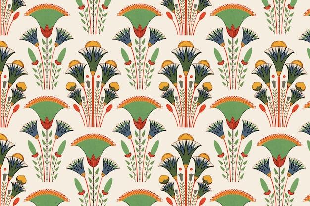 Padrão floral egípcio sem costura