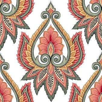 Padrão floral étnico